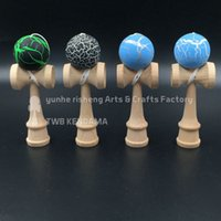 Wholesale 100pcs cm only ball cracked ball kendama Professional game top qualitybeech ball skills