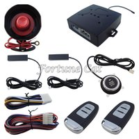 Wholesale In Stock Smart Pke Passive Keyless Entry Car Alarm System Remote Engine Start Push Start Button Auto Lock Unlock