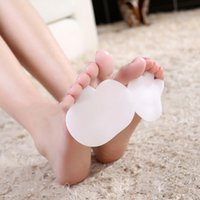 Wholesale 1 Pair Silicone Toe Pad Separators Forefoot Pads Shoes Insoles Foot Care Hot Selling New Arrival