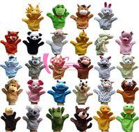 Wholesale Zoo Animal Hand Sock Glove Dolls Puppet Finger Sack Plush Toys For Baby Child