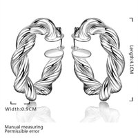 Wholesale Silver Earring Silver Fashion Jewelry Twisted Earrings SMTE593