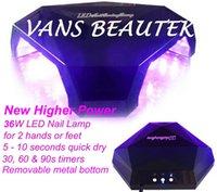 Wholesale 36W High Power LED Nail Lamp Dryer Acrylic Nail Gel Curing Top Coat Diamond Shape Design