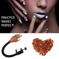 Wholesale Adjustable Nail Art Model Hand Clamp Holder False Nails Matched Practice Hand with False Nails W1615