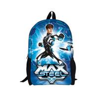 armor shoulders - 2014 New Arrival Cartoon Max Steel School Backpacks for Boys Kids Super Power Armor Backpack Girls Children Shoulder Mochila