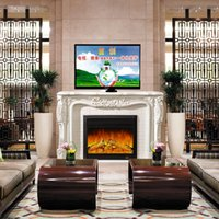 affordable cabinets - European style fireplace wood fire simulation TV cabinet strong and durable fireplace affordable vintage European style fireplac