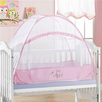 Wholesale 2015 Kids Crib Mosquito Net Hot Sale Blue Pink Color Baby Infant Kids Bed Net Baby Crib Canopy Tent Cortina Para Cama Dossel