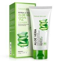 Wholesale Cleanser beauty skin care products make up BIOAQUA aloe replenishment repair clean skin moisturizing cleanser oil control acne g