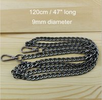 Wholesale 3pcs Black Color cm quot Handbag Frame Metal O Chains for DIY Handmade Bags Purses