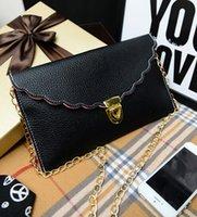 Bolso de mano Scalloped del embrague del borde del envío de las mujeres libres de Shipping + Wholesale Bolso de mano del hombro del bolso de la señora Handbag, 50pcs / lot