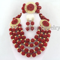 coral coral necklace - African Coral Jewelry Set Coral Beads Necklace Set Nigerian African Wedding Beads Jewelry Set