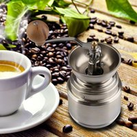 Wholesale Free Shippping New Stainless Steel Manual Handy Coffee Bean Pepper Seeds Grinder Mill