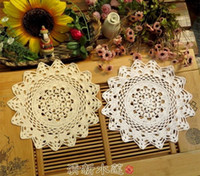 Wholesale New Table decor Cotton Handmade Crocheted Doilies Teapot Pads Vinate Chic Retro Table cloth Wedding supply Sofa Cover