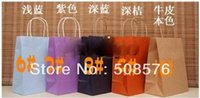 Cheap Elegant paper gift bag with handle, 27x21x11cm, Fashionable christmas bag, Wholesale price FreeShipping 30pcs