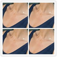 Wholesale Simple Gold Plated Birds Necklace Clavicle Chains Charm Womens Fashion Jewelry