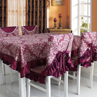Wholesale 2014 Rushed Real Woven Outdoor Hotel Wedding European Home Decor Desktop Table Cover Tablecloth Styles Chair