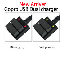 Wholesale gopro hero3 usb dual charger battery charger for gopro hero and hero plus