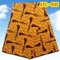 african print fabric - Yards Deluxe Nigeria real wax best quality African cotton wax prints fabric for dress Item No AYL