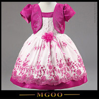 Wholesale MGOO New Arrival High Quality Pink Girl Fake Two Sets Dress Summer Style Flowers Girl Dress Infant Tutu Dress