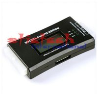 Wholesale by dhl or ems LCD display screen Pin ATX BTX ITX HDD CDROM SATA Digital Power Supply diagnostic Tester
