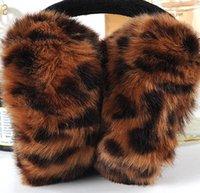angora yarns - colours Hot Winter Warm Leopard Imitation Sunday Angora Yarns Fashion Elegant Women Adult Colorful Plush Earmuffs Earlap E009