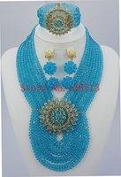 achat en gros de bijoux faits main étonnante-Étonnant nigérien blanc mariage perles de corail ensemble de bijoux fait main sculpté nuptiale de corail ensemble 2016 Livraison gratuite SD802-5