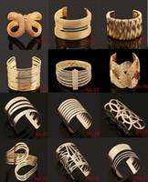 bangle bracelet stores - fashion gold Wide Cuff Bracelets hollow wide open bangles women s jewelry Stores Luxury bracelet