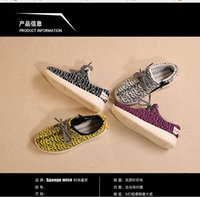 Wholesale Kids style shoes Running Shoes Snakers Kanye West boost Baby Fashion Shoes Gray Black Size