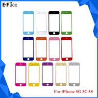 Cheap Q0758 Wholesale - Colored iPhone 5 5C 5S Front Outer Screen Lens Glass Replacement- Free DHL Shipping