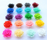 Wholesale 50pcs assorted Bloom Rose Resin Cabochon Flower Flat Back Flower Cabs mm