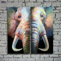 artist picture frames - Mr Elephant Directly From Artist Hand painted Modern Abstract Oil Painting On Canvas Wall Art Decoration No Framed CT043