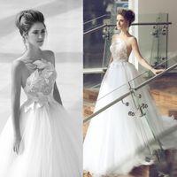 modern dresses - 2015 New Arrival One Shoulder Sheer Strap A Line Wedding Dresses Lace Flowers Sequins Tulle Fashion Bridal Gowns Elegant Garden Formal Wear