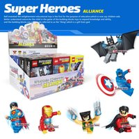 Wholesale Marvel s The Avengers Super Heroes lago high style enlightenment puzzle assembled fight inserted plastic toy building blocks