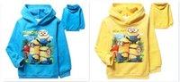 baby bogs - 40pcs best quality Autumn winter Despicable Me minion clothes bog girl child hoodies Baby fleece hoodies Coats D356