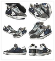 Wholesale Golden Goose Low Deluxe Brand Navy Comfortable Sneakers GGDB Canvas Unisex Men Women Casual Fashion Shoes Scarpe Donna