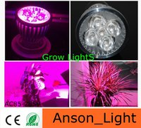 Wholesale LED plant Grow Light Bulb W E27 GU10 MR16 B22 LED Plant Light Lamp Hydroponic Grow Light Bulb Flower Garden Greenhouse