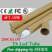 led tube light - Price Promotion Pieces W FT Led Tube Light AC85 V LM SMD2835 Indoor Lighting Lamp Fedex