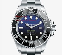 Wholesale Luxury Top Quality Mens Watch mm Blue Ceramic Bezel Sea Dweller Stainless Steel Automatic Man Watches