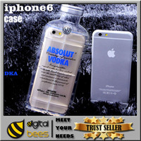 absolute blue - For iphone Luxury absolute Vodka alcohol Wine Bottle Hyper II Lecithin Transparent Clear cover TPU Phone Case For Iphone s plus