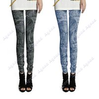 stretch jeans - 2015 New Women Fashion Jeggings Stretch Skinny Leggings Tights Pencil Pants Casual Pocket Pattern Jeans