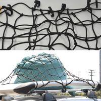 auto storage racks - New Black Car Trunk Luggage Storage Cargo Rack Organiser Nylon Elastic Mesh Net Network With Plastic Hooks Auto Accessories