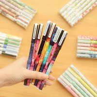 Wholesale Cartoon Star Gel Pen Creative Office Supplies Christmas Gift Kids Gift Boxed Starry Sky Gel Pen