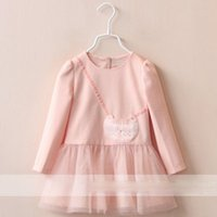 decorative mesh - 2015 Autumn Girls Cartoon Owl Backpack Patch Decorative Stitching Mesh Sleeved Princess Dress Clothes