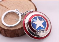Wholesale Avengers New Marvel Super Hero Captain America Shield Action Figure Keychain Keyring Doll