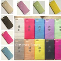 Wholesale 0 mm Frosted Transparent Clear Super Thin Slim Matte Soft PP Cover Case for iPhone C Plus inch Galaxy S4 S5