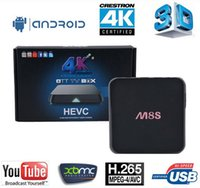 Wholesale M8S TV BOX Amlogic S8812 Quad Core Android Kitkat K2K GB GB google smart ott tv box Kodi14 XBMC WIFI bluetooth Airplay DS7