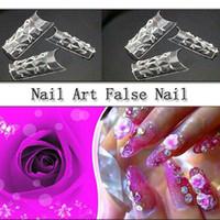 Wholesale 50 box A transparent glass sheet manicure nail false nails piece finished fake nails nail supplies transparent