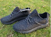 Wholesale Genuine Boost Shoes Gray Kanye West Pirate Black Boots With Dark Green Logos Men s Women s Sneakers Come With Receipt