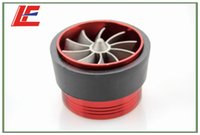 Cheap Red Supercharge Propeller Air Intake Fan Air Filter Kits Gas Fuel Saver Fan for 76CM