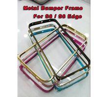 Wholesale New Aluminium Metal Bumper Cover Anti Knock Frame Case for samsung galaxy s6 Edge Samsung Galaxy S6 Ultra Thin Slim colors