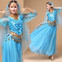 belly dancing india - belly dance autumn and winter long sleeved suit India dance performance service adult dance performance long skirt
